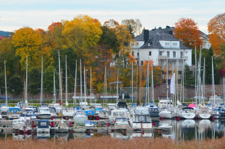 The harbor/marina near the diplomatic quarter in Oslo, Norway. (Photo by Clay Myers-Bowman)