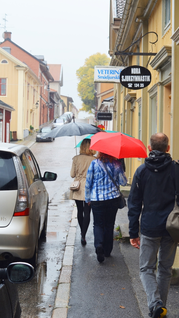 Street in Nora, Sweden on our visit last fall. (Photo by Clay Myers-Bowman)