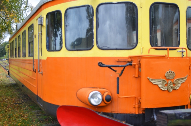 This is a decommissioned commuter train resting near the train station in Nora, Sweden. (Photo by Clay Myers-Bowman)
