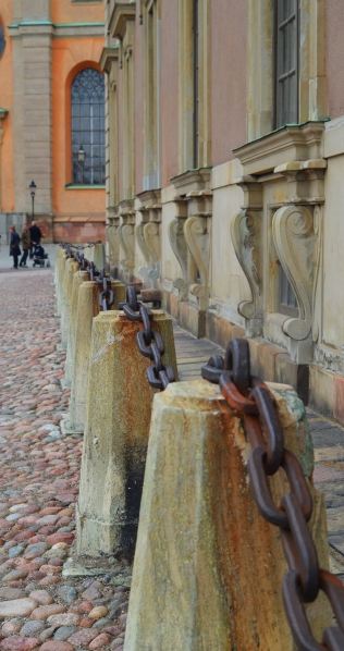 These are huge chains near the Royal Palace in Stockholm, Sweden. (Photo by Clay Myers-Bowman)