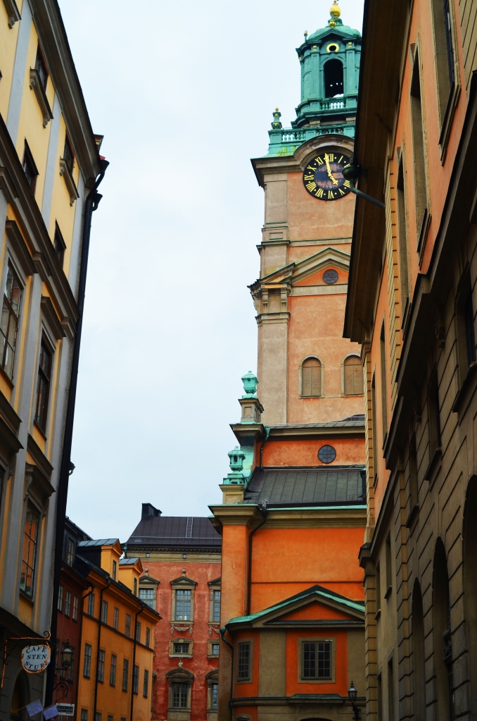 Church steeple in Gamla Stan, Stockholm, Sweden. (Photo by Clay Myers-Bowman)